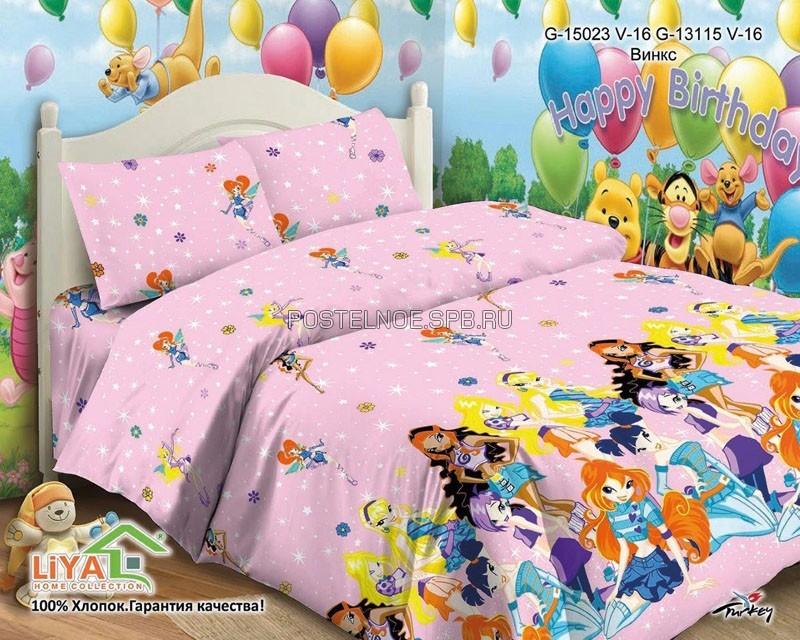 Детское постельное белье поплин Винкс Winx