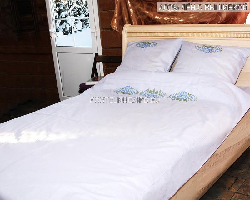 Льняное постельное белье с вышивкой 49